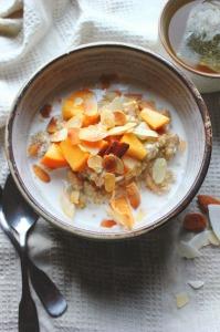 Quinoa, Persimmon & Almond Porridge | happy hearted kitchen