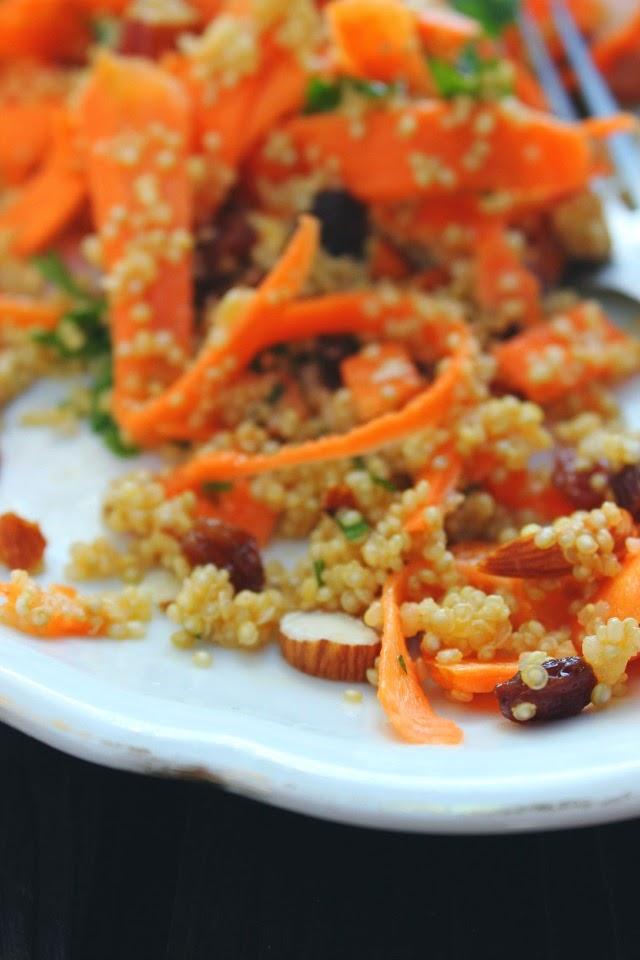Moroccan Carrot & Quinoa Salad | happy hearted kitchen