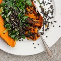 Lentil Stuffed Sweet Potatoes with Spicy Garlicky Greens ⎮ happy hearted kitchen