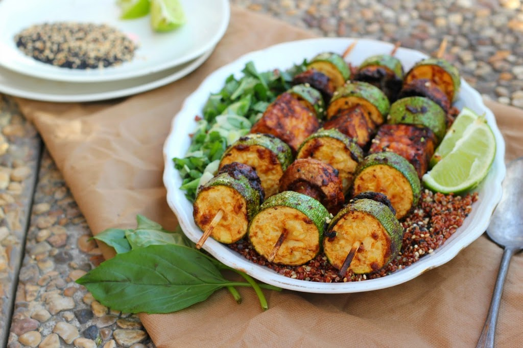 Sticky Miso Grilled Veggie Skewers | happy hearted kitchen