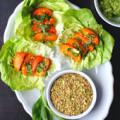 Avocado & Apricot Salad Wraps with Pistachio Dukkah ⎮ happy hearted kitchen
