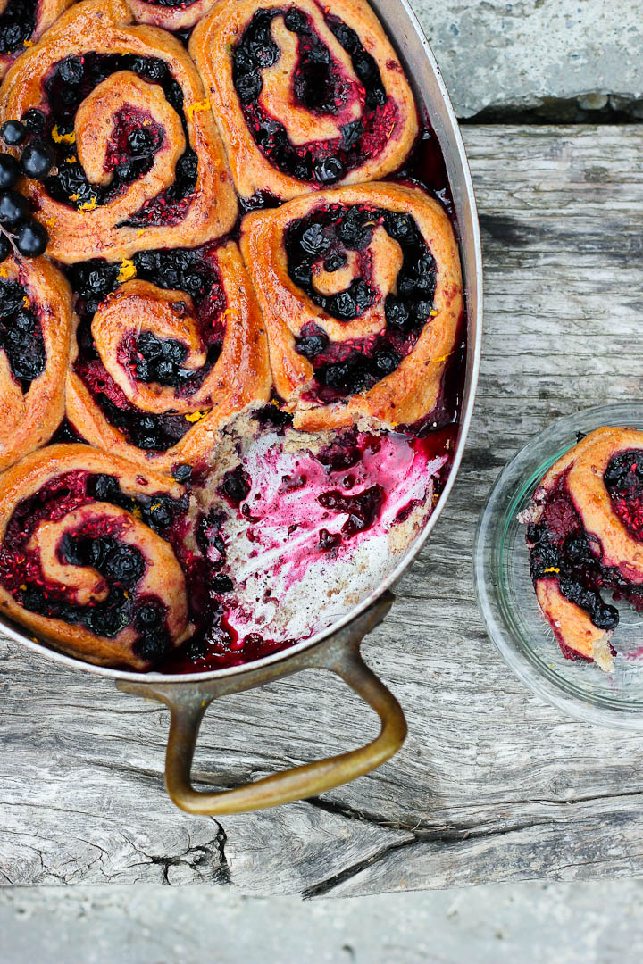 Spelt Summer Berry Buns with Maple, Orange + Cardamom ⎮ happy hearted kitchen