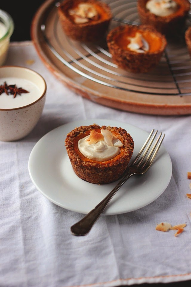 Ginger + Coconut Squash Tarts with a Pecan Oat Crust ⎮happy hearted kitchen