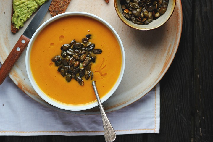 Roasted Parsnip, Carrot + Apple Soup with Gingery Toasted Pepitas ⎮ happy hearted kitchen