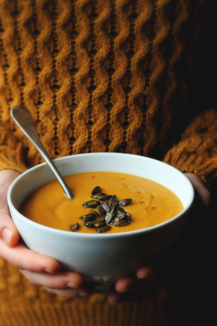 Roasted Parsnip, Carrot + Apple Soup with Gingery Toasted Pepitas ...