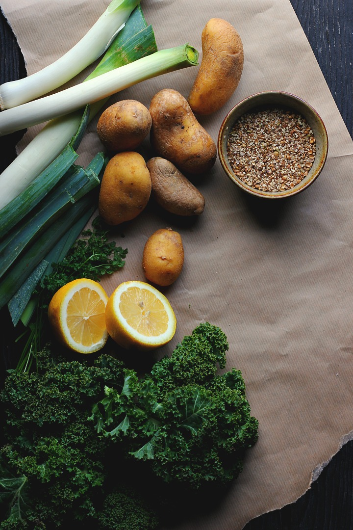 Lemony Kale + Potato Soup with Caraway Seed Dukkah ⎮ happy hearted kitchen