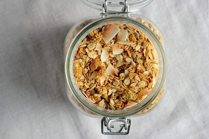 Coconut Cardamom Granola + Creamy Vanilla Pumpkin Seed Milk ⎮ happy hearted kitchen #vegan