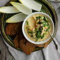 Roasted Golden Beet + White Bean Dip with Caraway Flax Seed Crackers