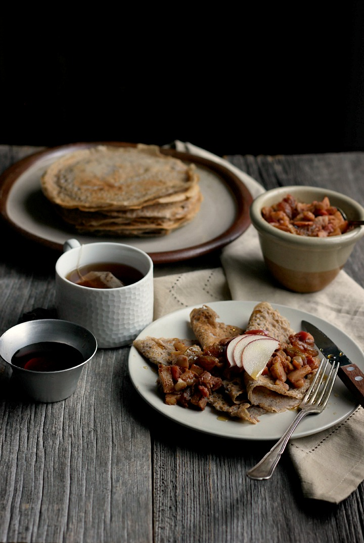 Maple Buckwheat Crepes with Spiced Apple + Chestnut Relish ⎮ happy hearted kitchen