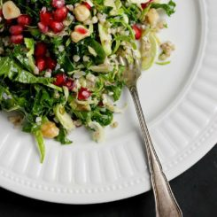 Winter Slaw with Buckwheat, Hazelnuts + Tamari Almond Butter Dressing