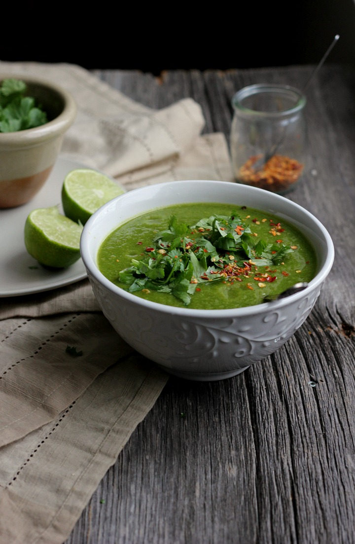 Weekend Reset - Broccoli, Spinach + Cilantro Soup with Ginger + Chili ⎮ happy hearted kitchen