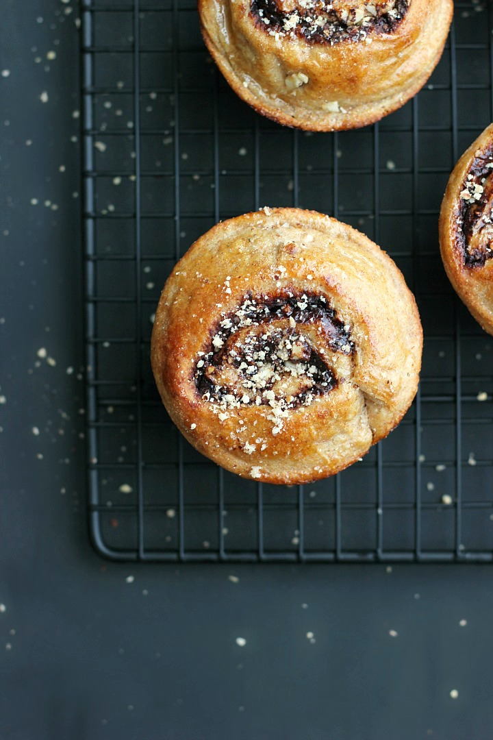 Chocolate, Hazelnut + Olive Oil Buns ⎮ happy hearted kitchen