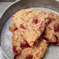 Raspberry Oat Scones