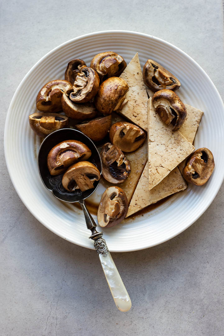 Balsamic + Tamari Glazed Tofu and Mushrooms ⎮ happy hearted kitchen