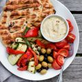 Easy Olive + Herb Grilled Flatbreads