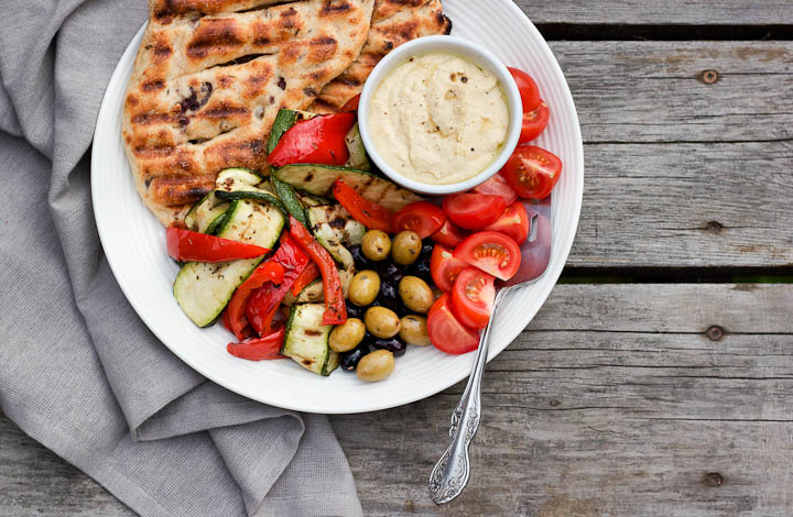 Easy Olive + Herb Grilled Flatbreads ⎮ happy hearted kitchen