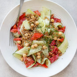 Summer Wheat Berry Salad with Everyday Dressing