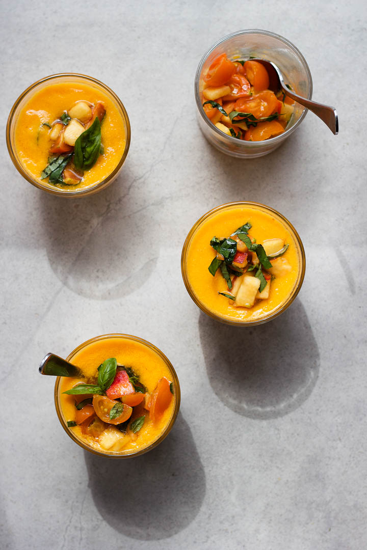 Golden Gazpacho ⎮ happy hearted kitchen