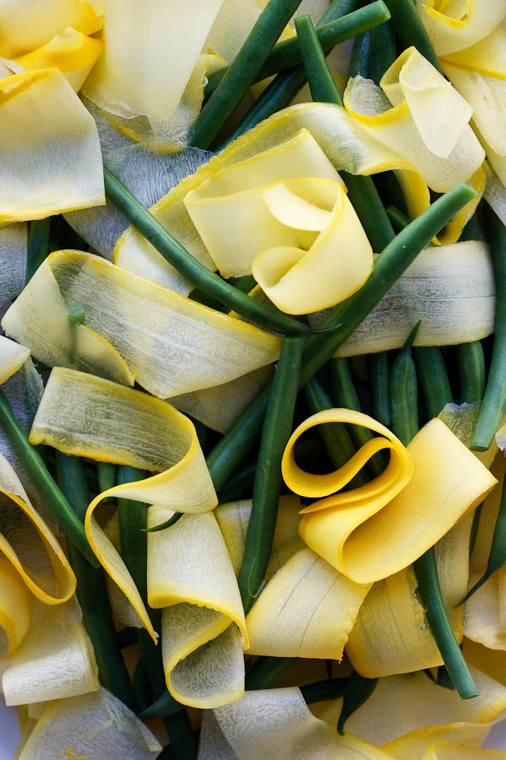 Green Bean, Sweet Corn + Summer Squash Salad with Basil Dressing ⎮ happy hearted kitchen