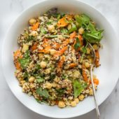 Roasted Carrot Salad with Quinoa, Chickpeas + Everyday Dressing