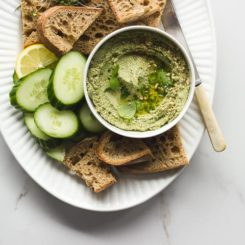 Toasted Pumpkin Seed Dip with Fresh Herbs